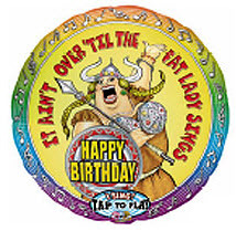 "28""  Jumbo Singing Balloon Happy Birthday Opera Style"